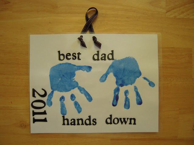 """He's the Best Dad Hands Down!"" (Clever gift idea for either Mom or Dad's Day!) ~ from La-La's Home Daycare"