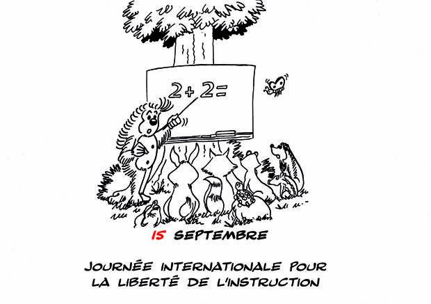 15 septembre : Journée Internationale Pour la Liberté de l'Instruction