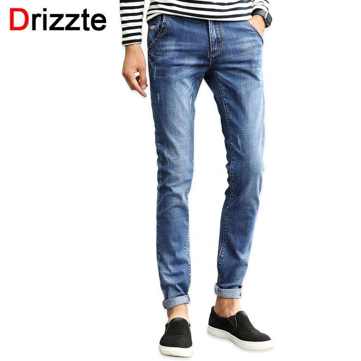 Drizzte Designer Stretch Denim Jeans for Men Slim Jeans Pants Trousers for Men