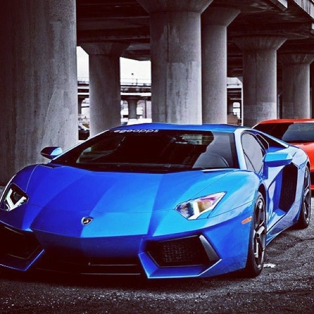 High Quality Striking Blue Lamborghini Aventador, Now This Is My Next New Car.