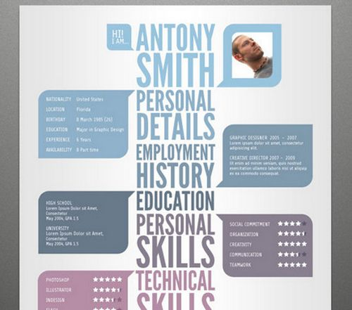 8 Best Cv Templates Images On Pinterest | Cv Template, Photoshop