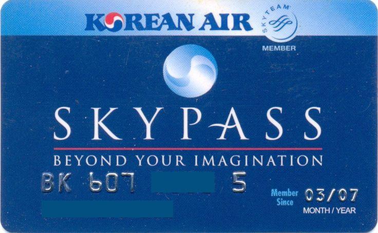 Korea Air Skypass Blue Beyound (Airlines, Korea, South) (Korean Air)