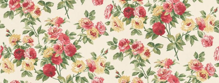 Eglantine (DVIWEG101) - Sanderson Wallpapers - A charming old-fashioned romantic floral design, shown in the rose pink and yellow.