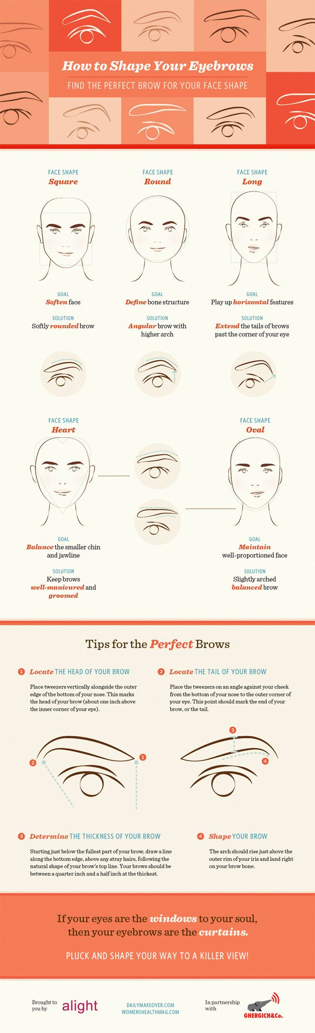 Infographic: How to Shape Your Eyebrows #infographic
