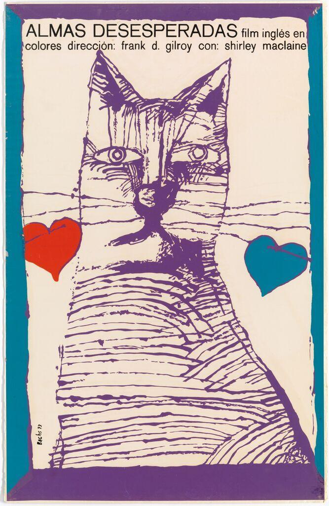 ALMAS DESESPERADAS, Eduardo Muñoz Bachs, 1973 manifesto/poster - serigrafia/silk screen DESPERATE CHARACTERS regia di/directed by Frank D. Gilroy USA-GB, 1971 Coll. Bardellotto Centro Studi Cartel Cubano