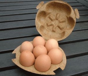 caixa de ovo de fibra de coco 100% natural e 100% de borracha natural, produto natural, biodegradável