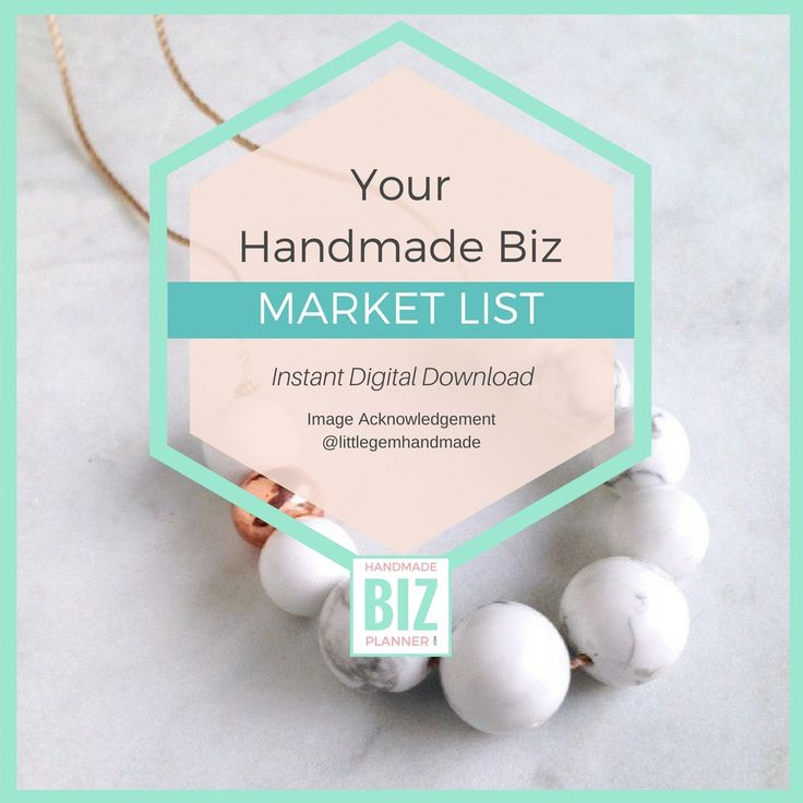 Selling your handmade goods at the the markets? Never forget a thing with this simple downloadable Market List maker.