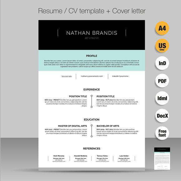Simple Premium Resume Cv Design Cover Letter Template: 1000+ Ideas About Cover Letter Design On Pinterest