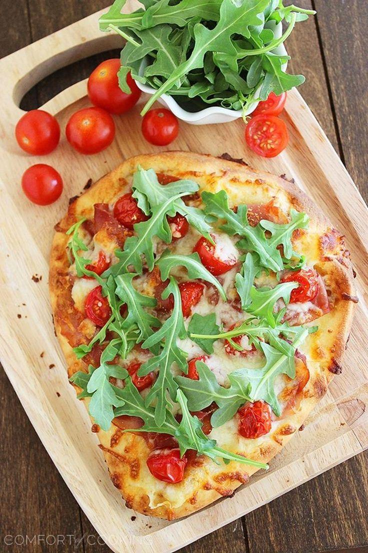 Prosciutto, Arugula & Tomato Naan Pizza | Recipe