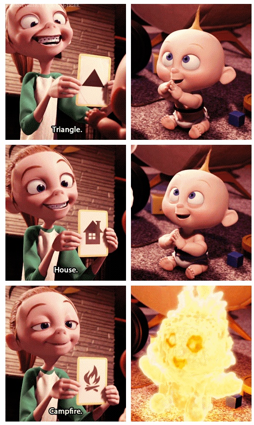 Watched this movie again today. Jack Jack is seriously the CUTEST animated baby. Ever.