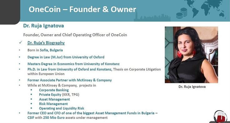 Dr. Ruja Ignatova credits