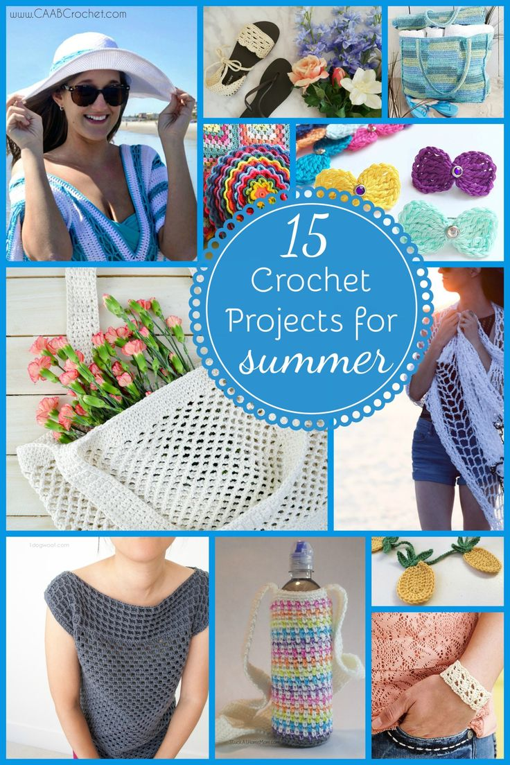 15 Crochet Projects Perfect For Summer | Cute As A Button Crochet & Craft