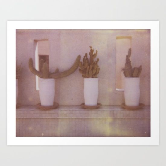 Collect your choice of gallery quality Giclée, or fine art prints custom trimmed by hand in a variety of sizes with a white border for framing. https://society6.com/product/moroccan-cactus_print?curator=wellglow