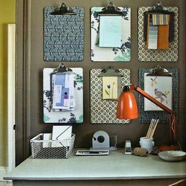 Pranchetas decoradas são uma ótima idéia para o seu espaço ajudando a organizar e decorar.