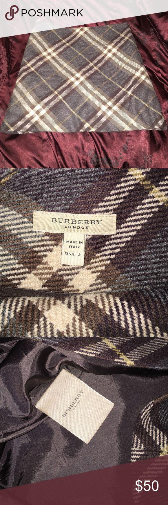 NWOT wool Burberry skirt 100% wool. Pristine condition! Burberry Skirts Mini