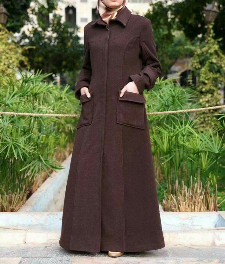Brown jilbab