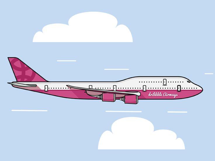 Dribbble Airways by Steve Nuss #zeeenapp