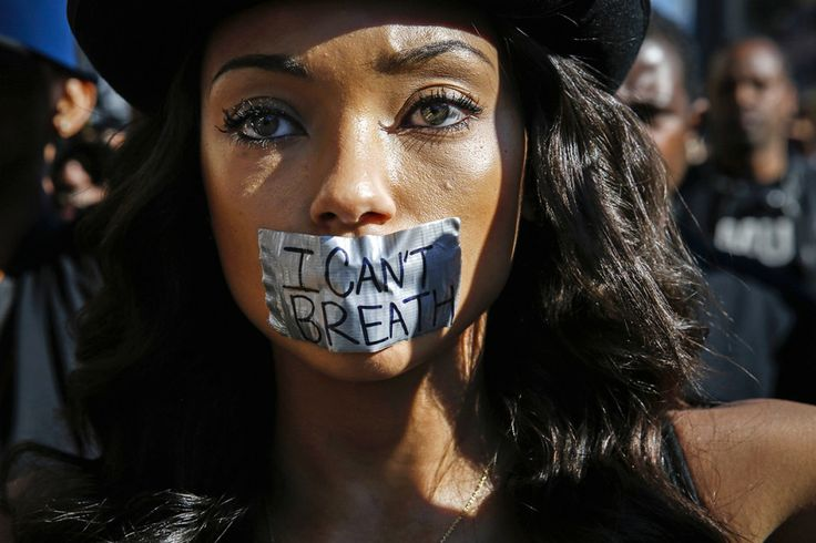 Actor Logan Browning joins demonstrators protesting against police violence, including the chokehold death of unarmed black man Eric Garner in New York, as they march in 2015. This Is What 100 Years Of Women's Protest Looks Like In The US