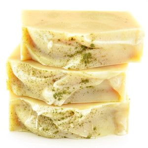 Vegan soapmakers aren't as limited as they think! Lots of plant milks made luxurious cold process soap as seen in this lemongrass + coconut milk soap recipe!