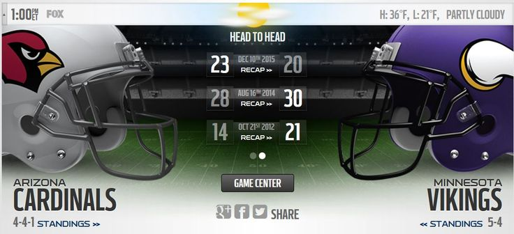 Watch Cardinals vs Vikings live? Hello NFL Fan, This Sunday. Nov-20, 2016, Waiting a Big Event's Of Week - 11, Get Start Cardinals vs Vikings live