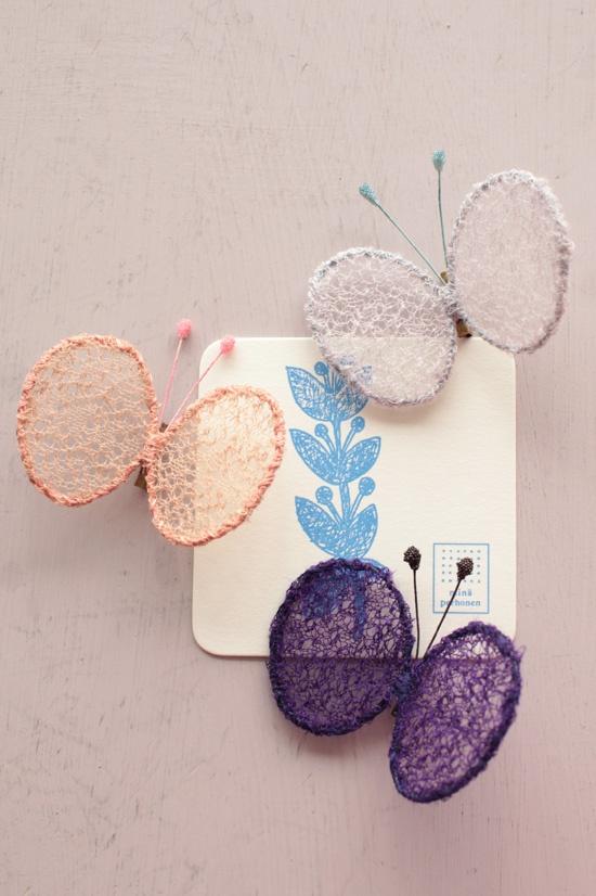 butterfly brooch, mina perhonen