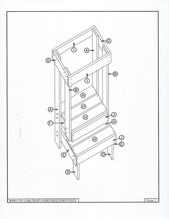 Fine Safe Learning Tower Plan Diy Montessori Kitchen Helper Pdf Spiritservingveterans Wood Chair Design Ideas Spiritservingveteransorg