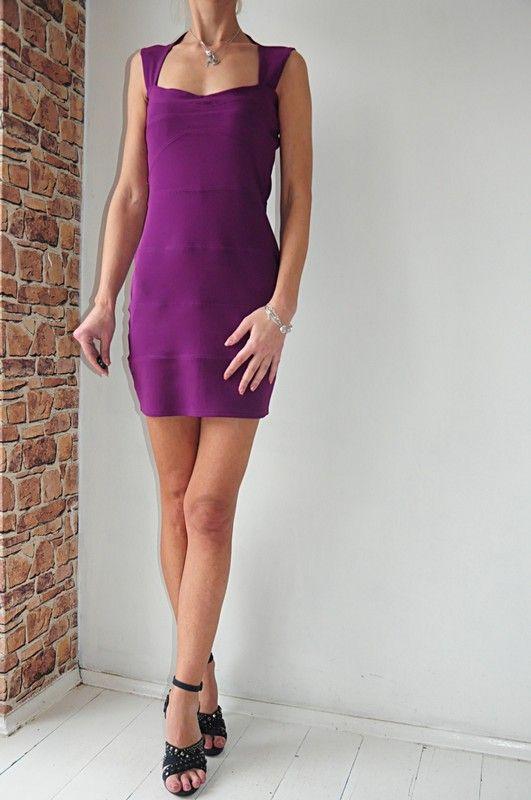 6398f8978d1a9 sukienka Boohoo fioletowa r. 38 w 2019 | dress | Dresses, Bodycon ...