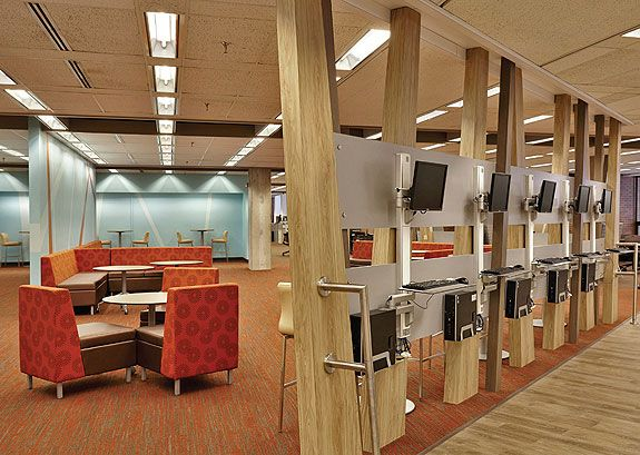 Hicks Undergraduate Library: quick access to course materials and the Internet, plus a friendly spot in which to lounge