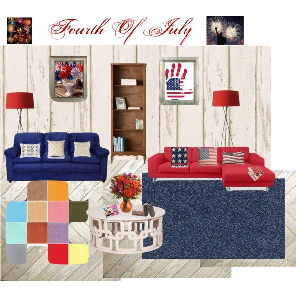 """Red, White and Blue Room"" by chellebritton on Polyvore"