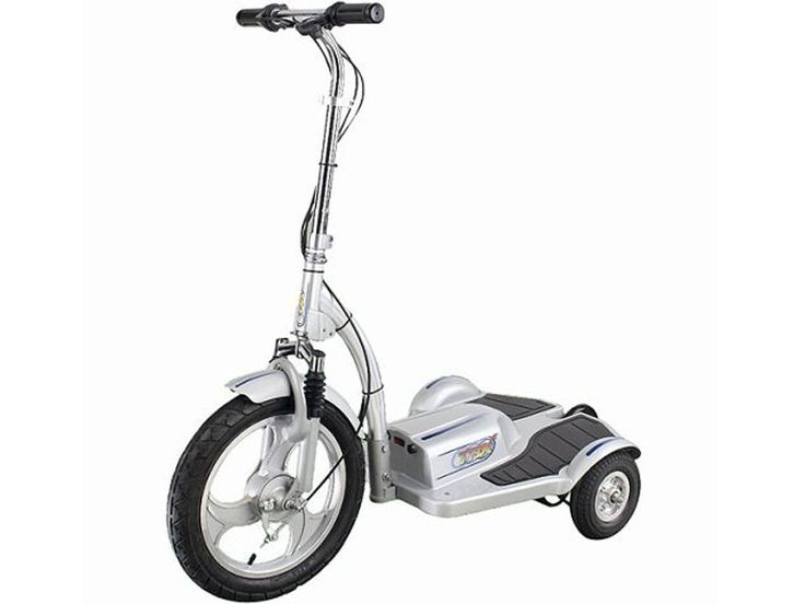 TRX Personal Three Wheel Transporter Scooter 36v - The TRX is a three wheel electric scooter that you can ride while standing, this makes it very convenient for use at events, security and warehouse floor operations or for just plain fun! It's like a three wheel Segway but at a fraction of the price and weight.