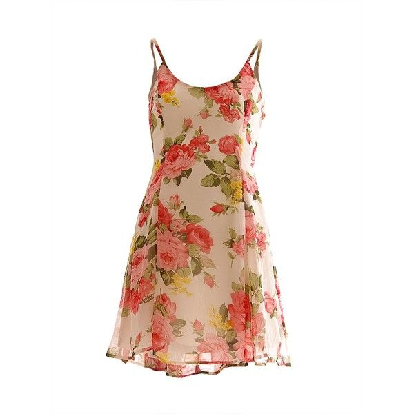 AX Paris Vintage floral skater ($33) ❤ liked on Polyvore featuring dresses, vestidos, cream, women, beige dress, vintage skater dress, cream dress, vintage day dress and sleeveless floral dress