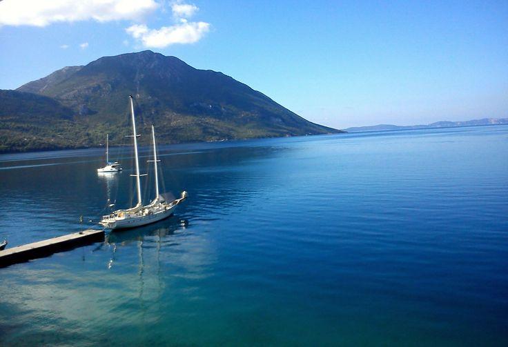 beautiful morning at Mytikas, western Greece! Ionian Sea.