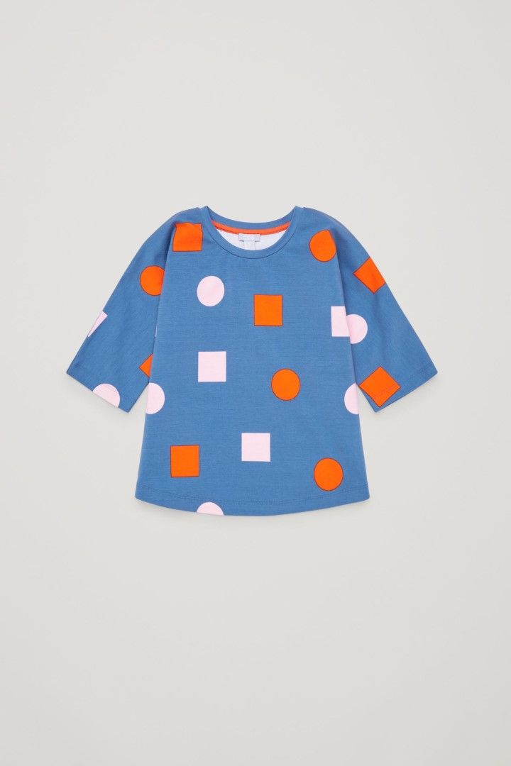 COS image 2 of Printed jersey top  in Blue