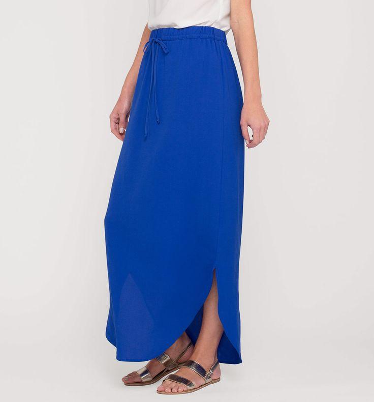 Sklep internetowy C&A   Maxi spódnica, kolor:  niebieski   Dobra jakość w niskiej cenie