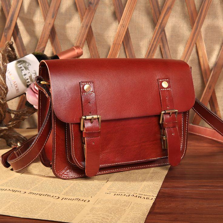 vintage Red satchel retro leather handbags uk patent leather handbags British style genuine leather ladies handbags online