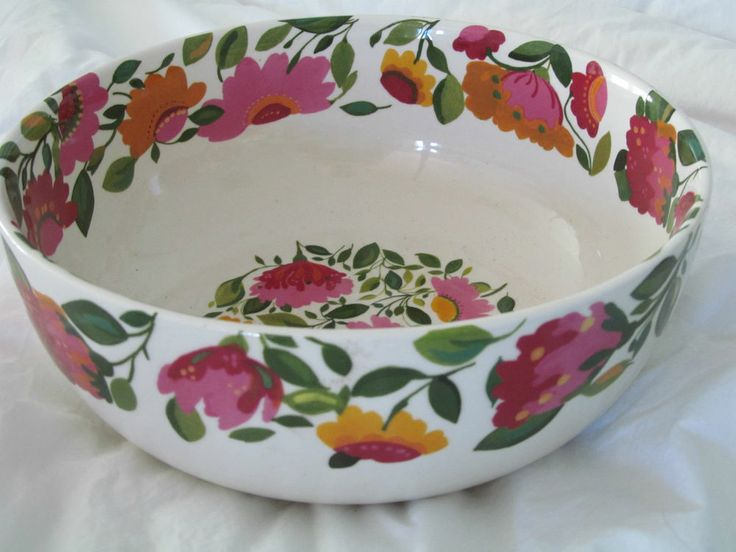 "Kim Parker / Spode Emma's Garland Large Serving Bowl 9.5"" X 4"" NEW"