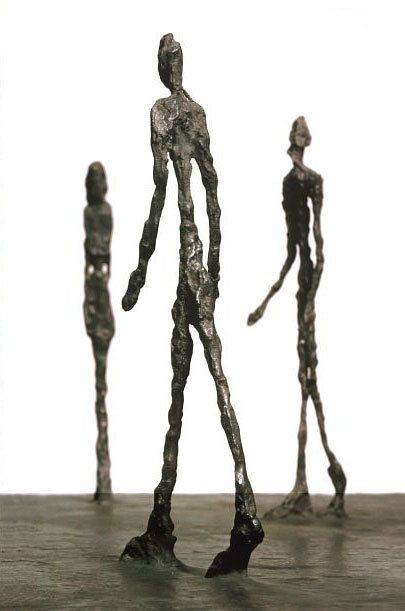 Giacometti is my favorite sculptor! (they're life size)