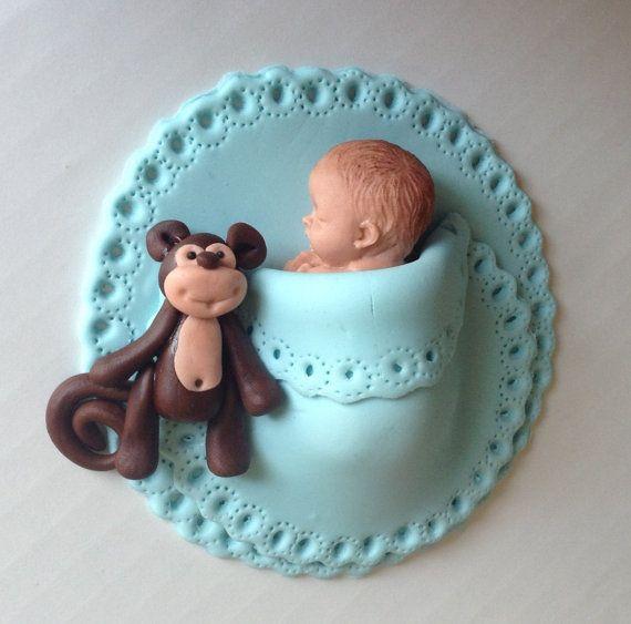 FONDANT BABY SHOWER Cake Topper Baby junge essbare cake Topper