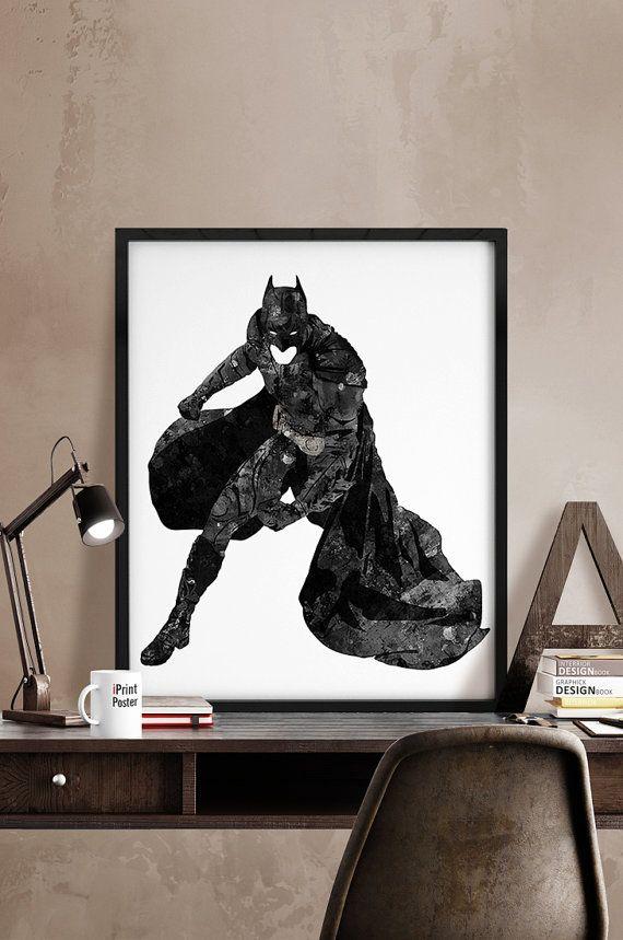 Batman print Batman poster Superhero poster Hero by iPrintPoster