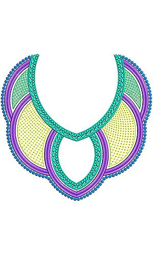 Boho Gypsy Embroidery Neck Design