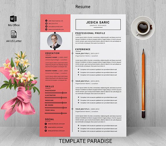 Professional resume template, Resume template, CV, CV template, Curriculum vitae, Resume writing, Resume template professional, Word resume