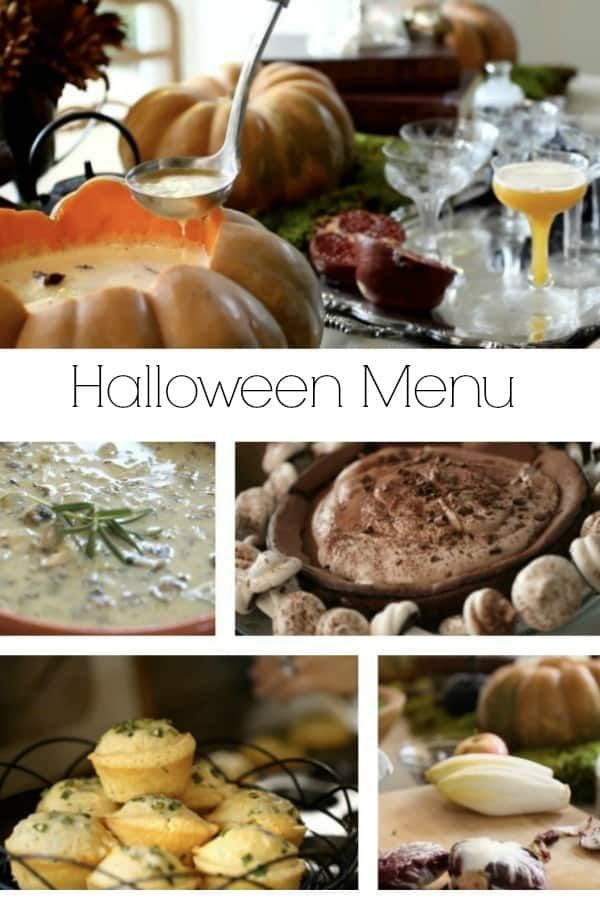 Halloween Themed Dinner Menu for Adults