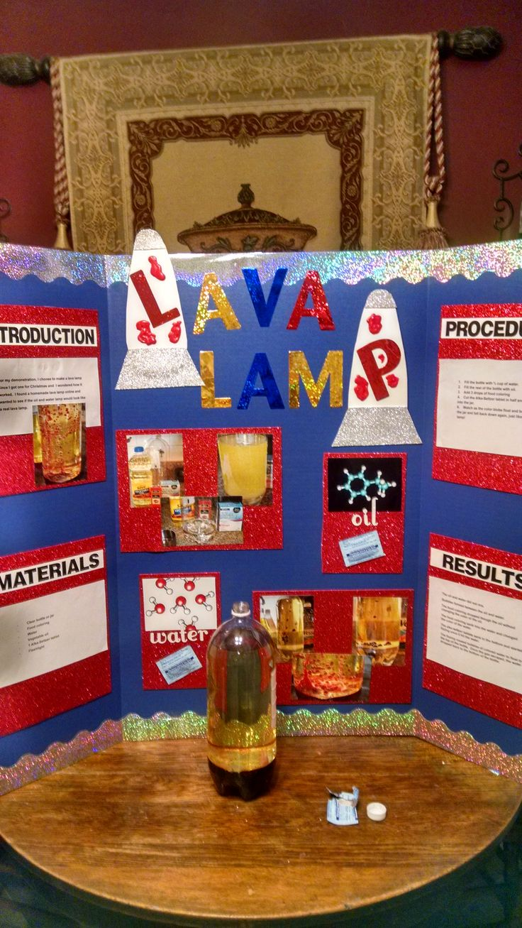 Homemade lava lamp science experiment