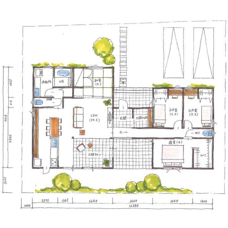 . 【ボツプラン140】 西側のトイレのドアはどうするべきか悩みますね。 . この家みたいな寄棟の平屋やったら、軒の出を1.2mくらいにするのが理想ですね。隣地の状況がわからないけど、ギリギリまで軒を伸ばして欲しいです。 . . #collabohouse #コラボハウス #間取り #間取り図 #設計図 #設計士 #設計士とつくる家 #住宅 #住宅設計 #自由設計 #住宅間取り #住宅外観 #住宅デザイン #デザイン住宅 #注文住宅 #新築 #新築一戸建て #家づくり #myhome #マイホーム #平屋 #ボツプラン