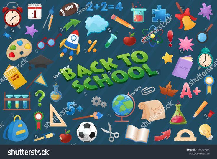 Back to school elements set, education icons. elements#school#set#icons