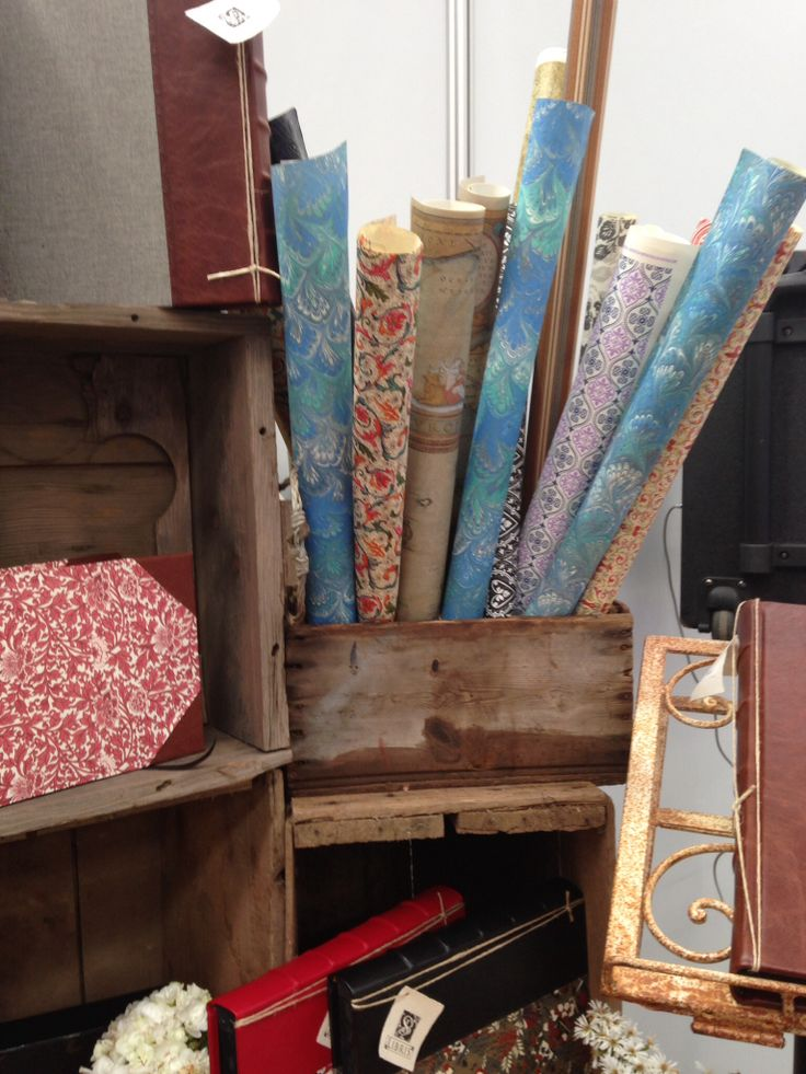 A selection of gorgeous Italian papers on display. Wedding expo 2014.