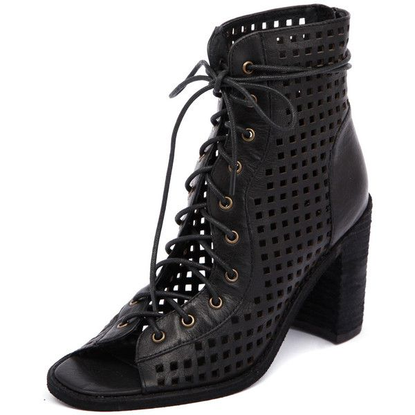 Mollini Jimmy Black (200 AUD) ❤ liked on Polyvore featuring shoes, boots, ankle booties, lace up ankle boots, ankle boots, black high heel boots, faux leather booties and black booties
