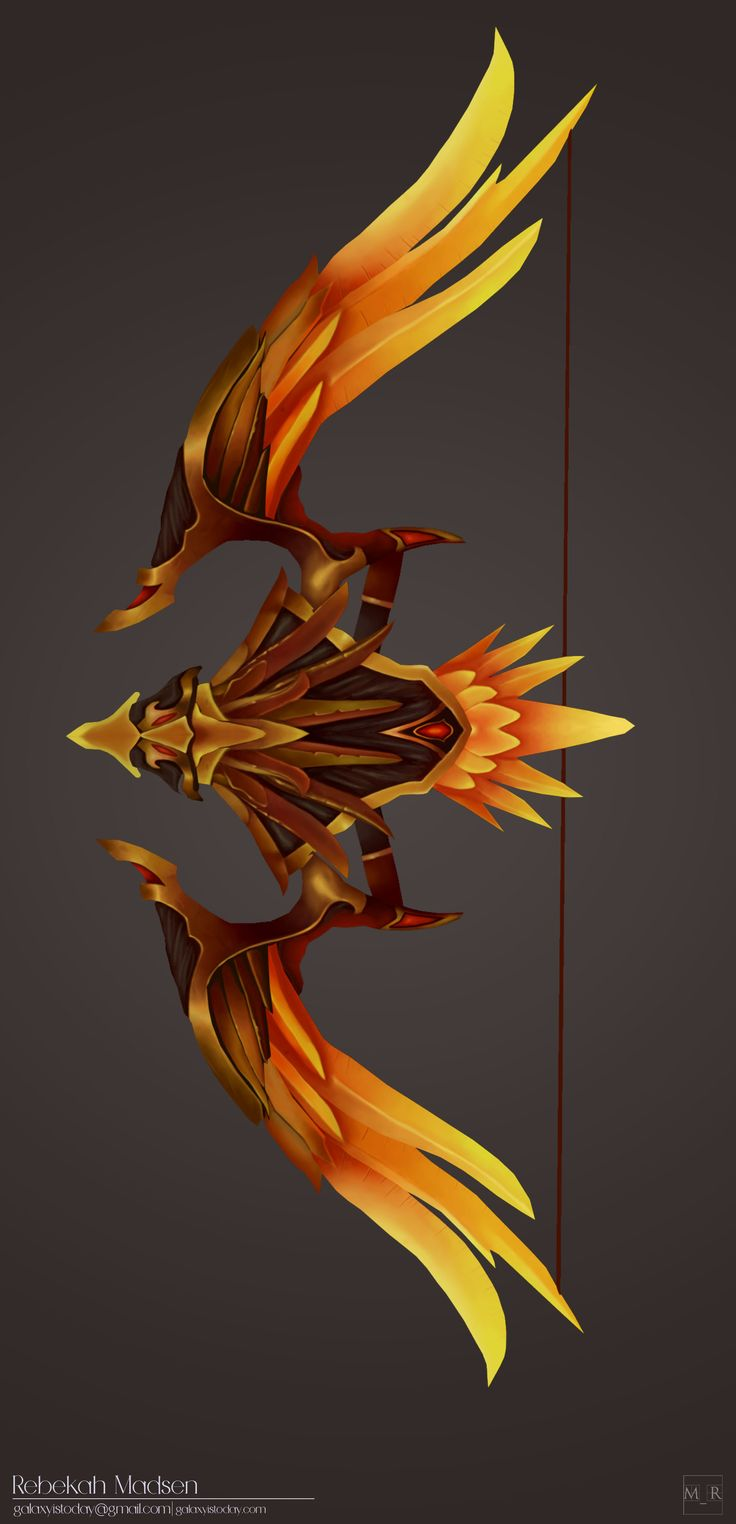 ArtStation - Gold Artifact Bow Blizzard-Fan Art, Rebekah Madsen