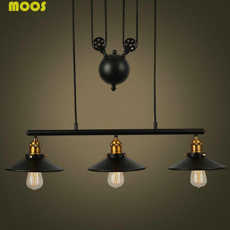 1000 id es sur le th me lumi re de poulie sur pinterest clairage rustique luminaires. Black Bedroom Furniture Sets. Home Design Ideas