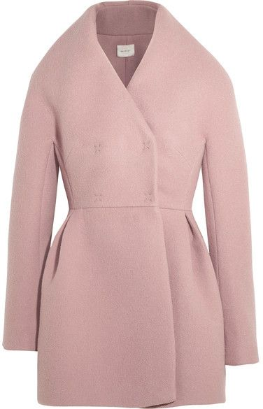 DELPOZO - Wool And Mohair-blend Coat - Antique rose